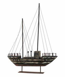 Figura Decorativa Dekodonia Madeira Metal Barco (50 x 10 x 69 cm)
