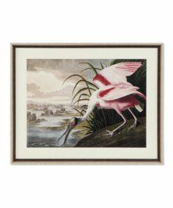 Pintura Dekodonia Vogel Estanque Oriental Emoldurada (88 x 3 x 70 cm)
