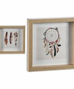 Pintura Dreamcatchers MDF Madeira (2,5 x 21,5 x 21,5 cm)