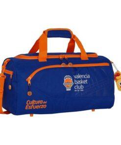 Saco de Desporto Valencia Basket Azul Laranja (25 L)