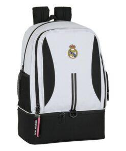 Saco de Desporto com Porta-sapatos Real Madrid C.F. 20/21 Branco Preto