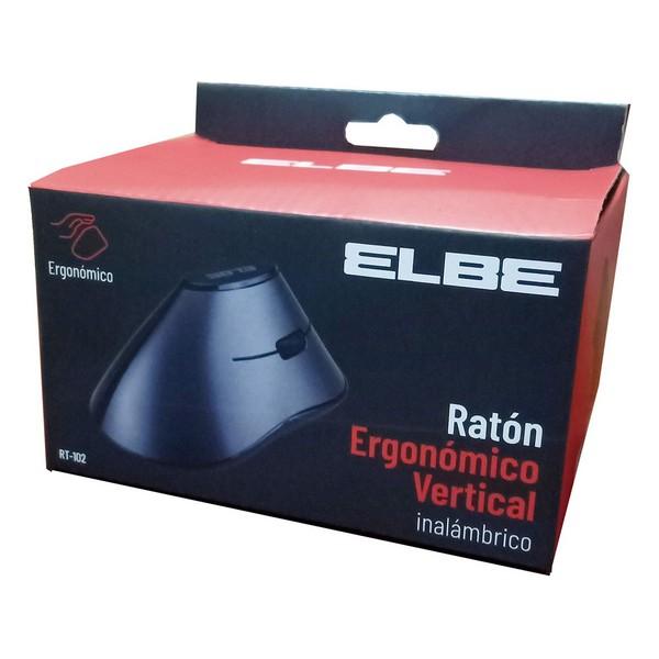 Rato sem Fios ELBE RT-102 Ergonómico 800 dpi Preto