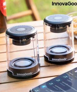 Altifalantes sem Fios Recarregáveis Magnéticos Waveker InnovaGoods Pack de 2 uds
