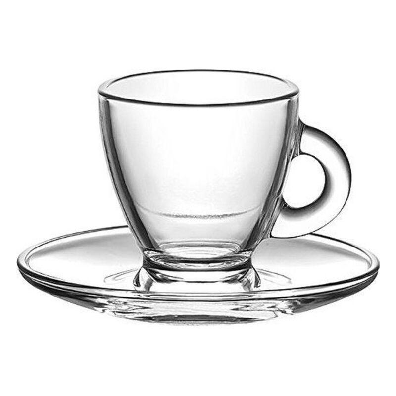 Conjunto de Chávenas de Café LAV Roma 95 ml Cristal (12 pcs)